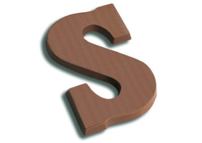 Chocolate Letter flowpack 80 gr
