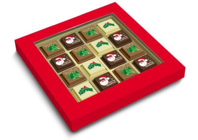 Premium pralines 16 stuks Kerst
