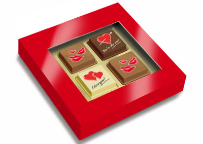 Pralines I love you 4 pcs