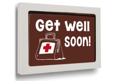 Schokoladen Karte Get well soon! (150gr)