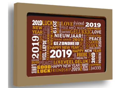 Chocolate Card New Year