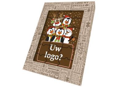 Chocolate Puzzle Merry Christmas logo