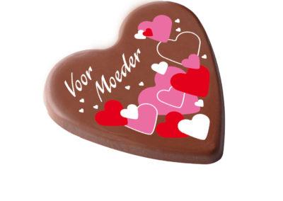 Chocoladehart 'Voor Moeder'