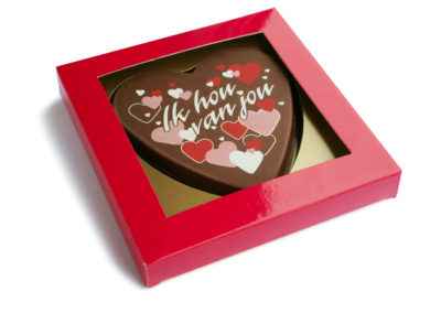 Schokoladen Karte Ik hou van jou (135gr)