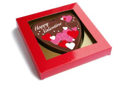 Schokoladen Karte Happy Valentine (135gr)