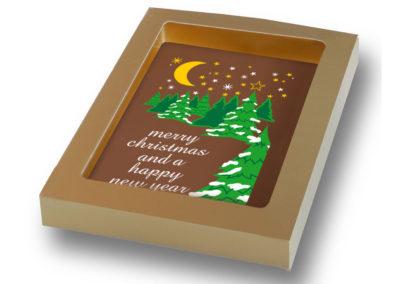 Chocoladekaart Merry Christmas (150gr)