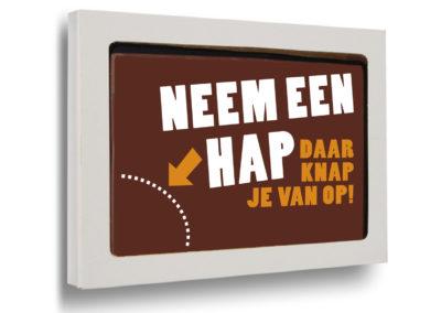 Schokoladen Karte Neem een hap (150gr)