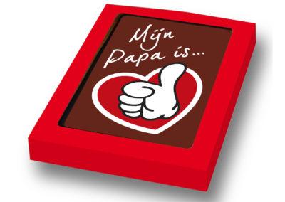 Chocolade Card Mijn papa is..