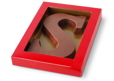 Chocolate Letter milk stripe